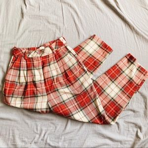 🍁 Red Plaid Trouser 🍂